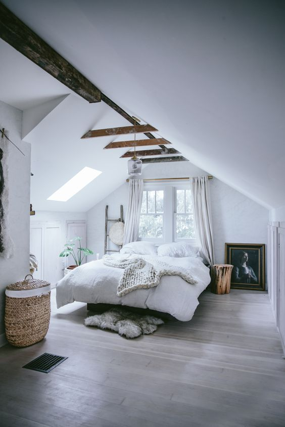 Bedroom with sheepskin