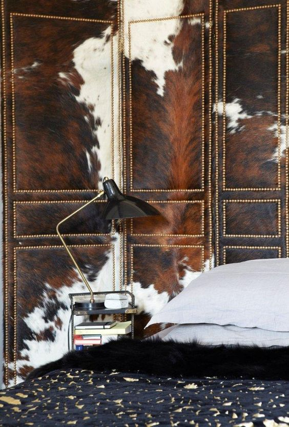 07 Cow hide as wall decoration
