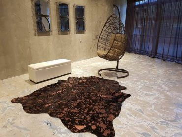 19 Cowhide in minimal living room