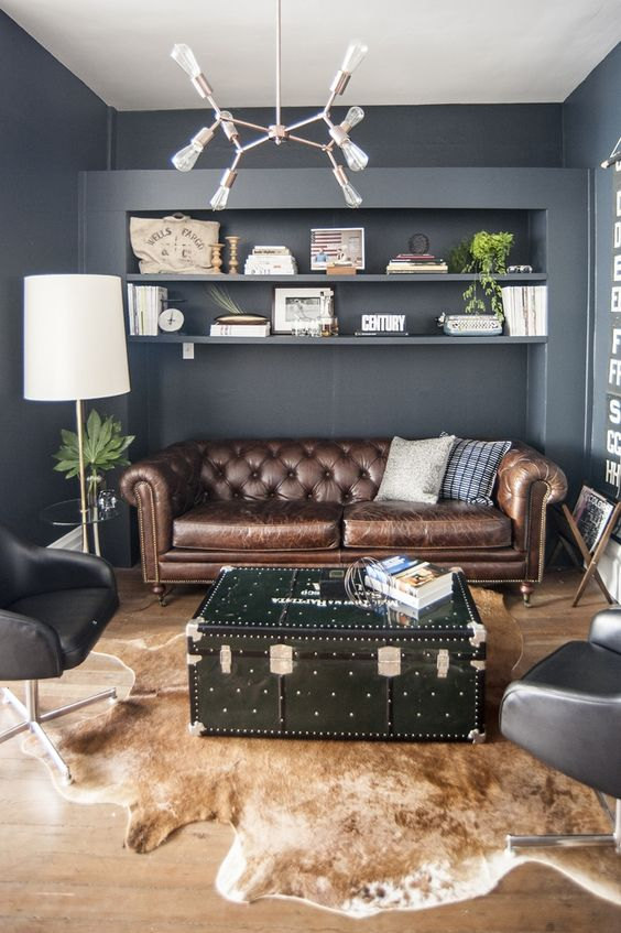 Cowhide works well on home offices