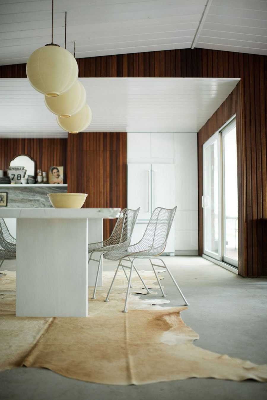 Pastel cowhides for the perfect dining table