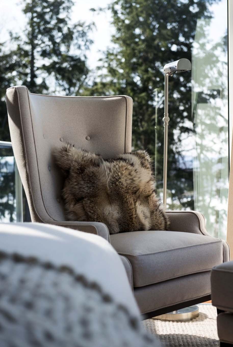 Photo of furry cushion