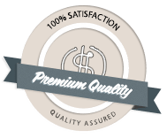 100% satisfaction, quality assured.