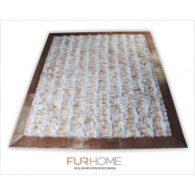 fur rug wolf natural rug with frame gold crocco pony