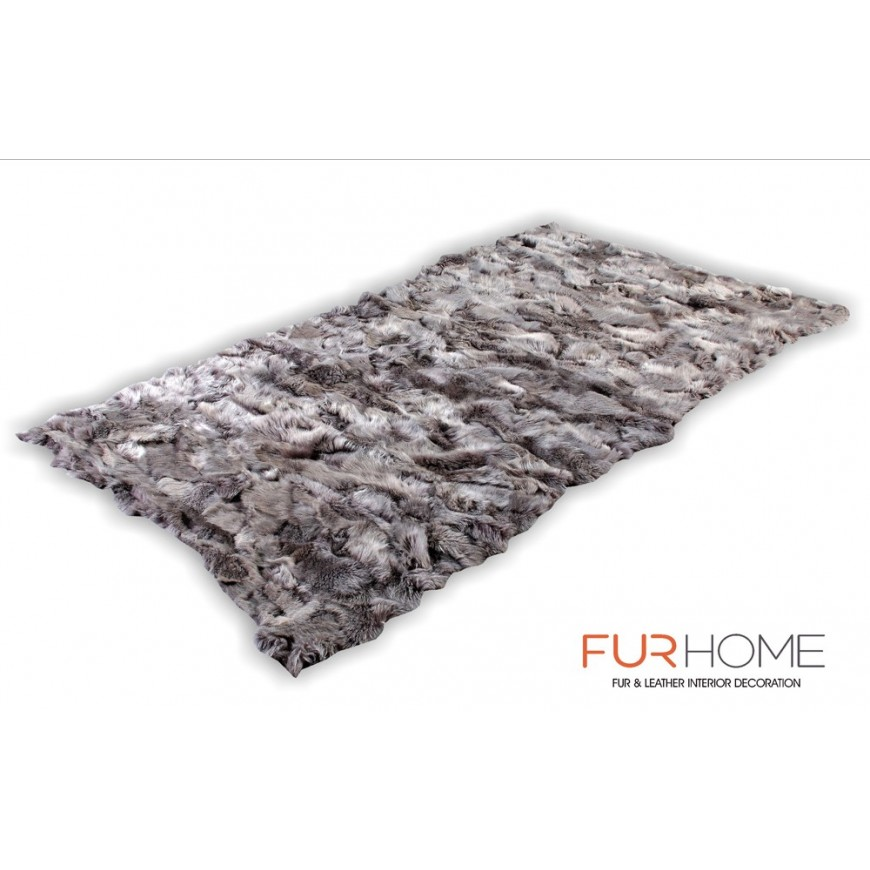 fur rug toscana  light grey