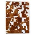 patchwork cowhide rug k-154 brown-white