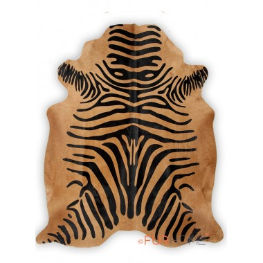 zebra black on beige