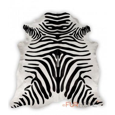 zebra black on off white