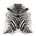 zebra  χαλί Δέρμα Ασπρο Μαύρο