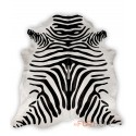 zebra black white animal print cowhide rug