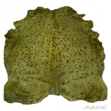 COWHIDE GREEN IN NATURAL SHAPE -MUCHIO