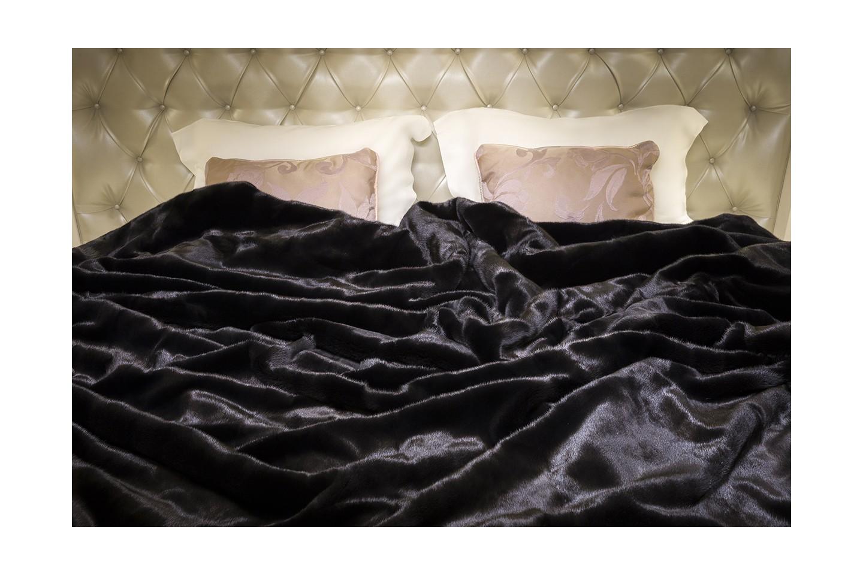 Blackglamma Mink Fur Throw Luxurious Real Fur Blanket