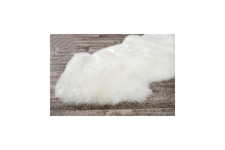 Sheepskin Double Rug Colour Ivory White