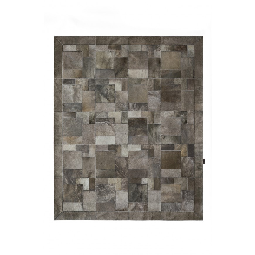cowhide rug k-1915 olive elephant puzzle