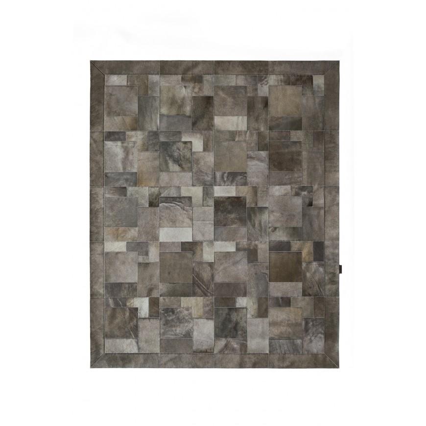 cowhide rug k-1914 grey elephant puzzle