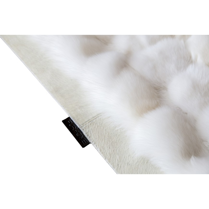 WHITE  FOX FUR RUG