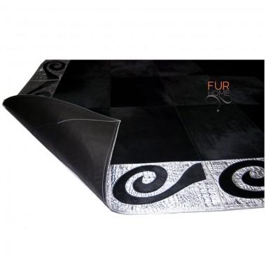 Черный спрятать ковер панели 20 см с золотой крокодила линии