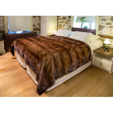 Golden Mink Plucked Fur Blanket 140 x 200 cm