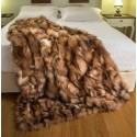 crystal αληθινό γούνινο ριχτάρι από αλεπού 115 x 185 cm