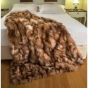 crystal real fox fur throw - blanket