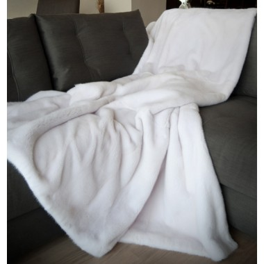 White  Mink  Fur Blanket
