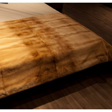 Golden Nerz Gerupfte Pelzdecke Groesse 140 x 200 cm