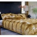 Red Fox Fur Blanket 140 x 200 cm