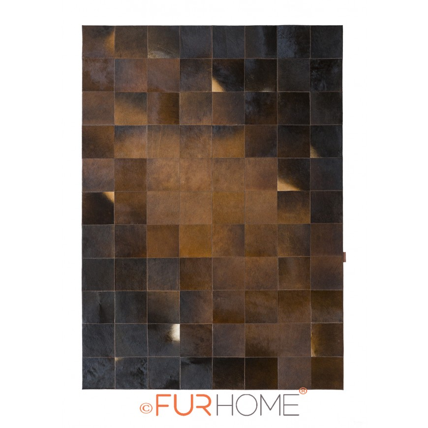 patchwork cowhide rug 20 Diagon Redish Dark