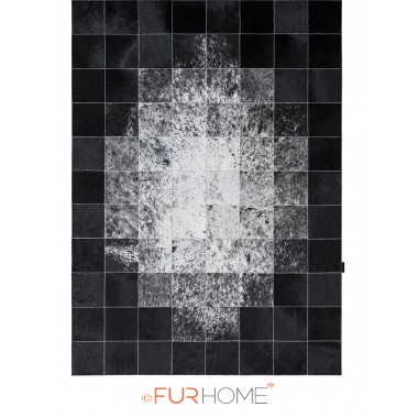 patchwork cowhide rug 20 white ivory black