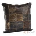 cowhide cushions black white