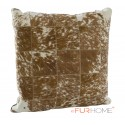 cowhide cushion brown with white spot 10