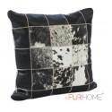 cowhide cushion white black spot  10