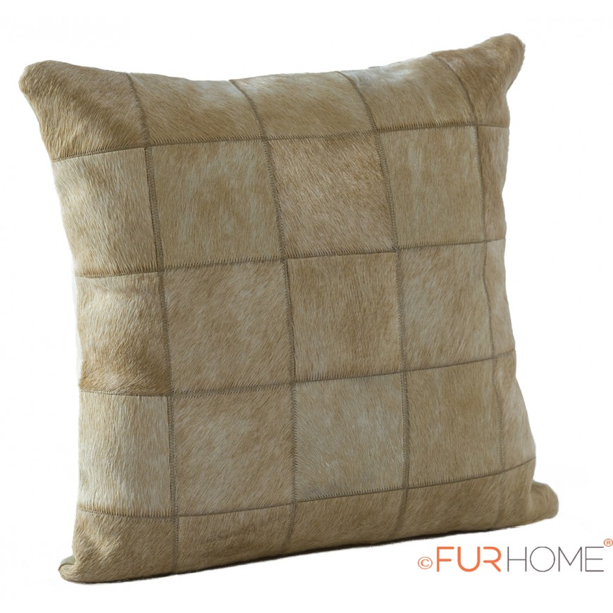 cowhide cushion natural beige  10 natural