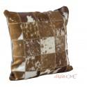 cowhide cushion natural beige spot white  10