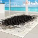 patchwork cowhide rug k-1810 mosaik black-white