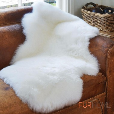 Sheepskin Single Rug Colour Ivory - white
