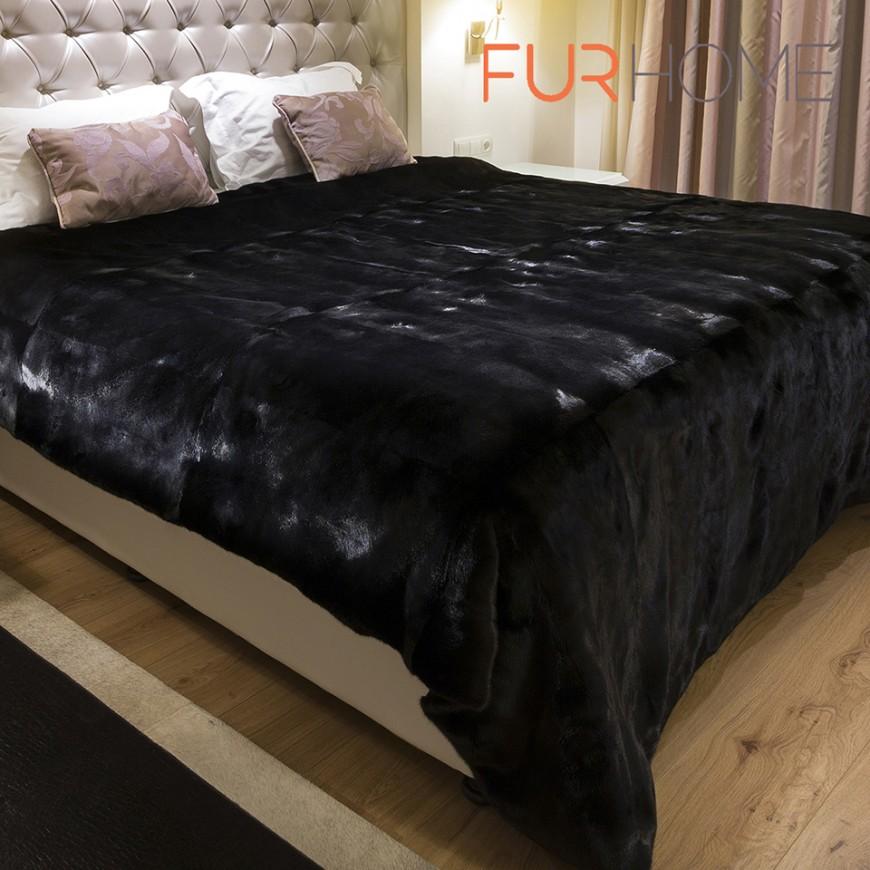 Blackglamma Mink Fur Blanket 140 x 200 cm