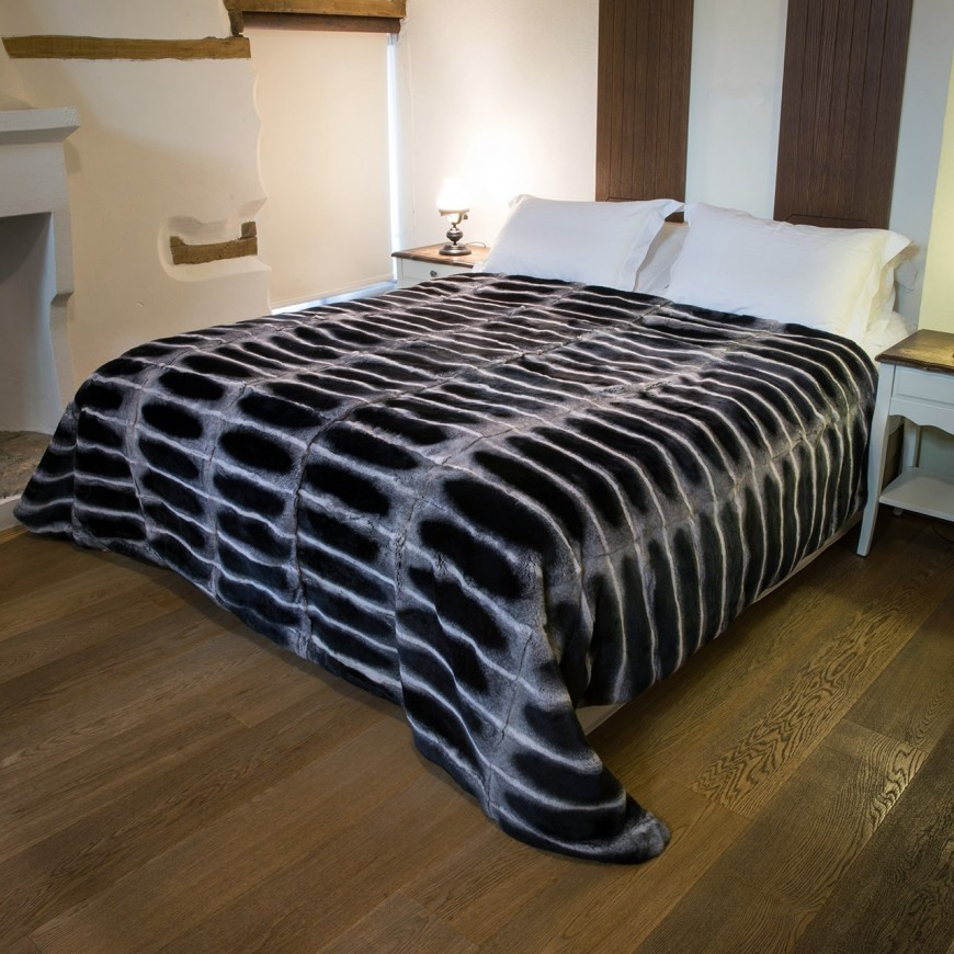 Γούνινη κουβέρτα Chinchilla Rex
