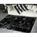 cowhide rug black (nero)  cavallino puzzle  220 x 270 cm
