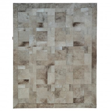 LUXURY LEATHER RUG DESIGN PUZZLE COLOR CHAMPAGNE