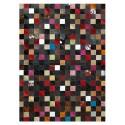 patchwork cowhide rug k-1577 mosaik multicolor corner