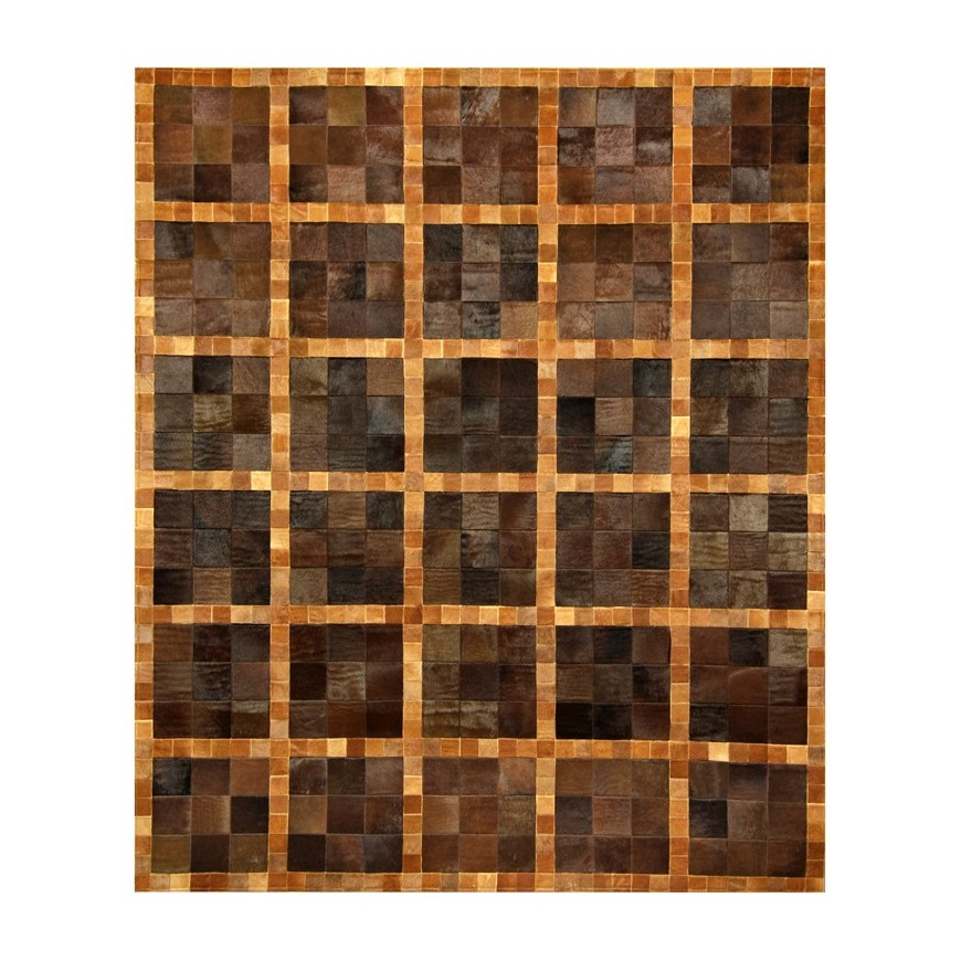 Leather carpet k-1347 cognac/baio top view