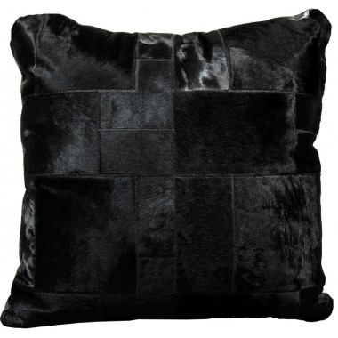 cowhide big floor cushion black puzzle