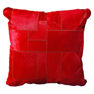 cowhide big floor cushion rosso puzzle