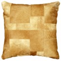 cowhide big floor cushion light beige puzzle