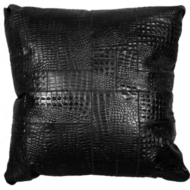 big floor cushion cover*nero croco  puzzle 80x80