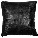 leather big floor cushion croco nero puzzle