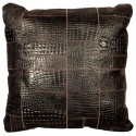 leather big floor cushion croco testa di moro puzzle