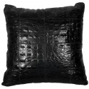 leather big floor cushion jurasico nero