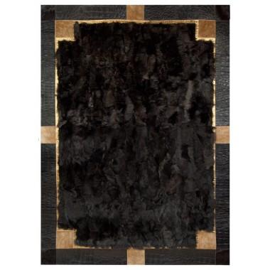 Fur carpet rug sofia t moro toscani